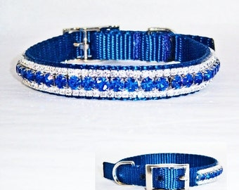 11 in Sapphires and Diamond Dog Collar