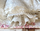 Vintage French Shabby Chic....Petticoat Layers And Layers Of Ruffles