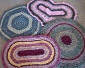 Custom order rag rug, lemon yellow, white, rectangle rug, bathmat, bathroom rug, bungalow rug, crocheted rug