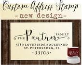 Return Address Stamp, Custom address stamp - SELF INKING stamp,  Wedding stamp - Style 1162M
