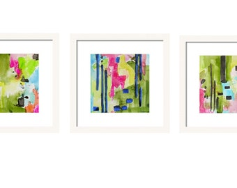 Watercolor Abstract Art Print Set, Set of 3 Prints, Gallery Wall Art Set, Wall Decor Giclee Prints, Interior Design, Abstract Painting