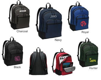 Monogram Classic Backpack - Back to School, Graduation, College, Polyester Canvas BG204