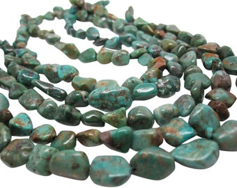 Turquoise Nugget, Turquoise Beads, Green Blue Turquoise, December Birthstone, SKU 4521A