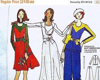 Sewing Pattern SALE 1970s BETSEY JOHNSON Pattern Misses size 10 Uncut Betsey Johnson Alley Cat Pattern Bi Color Maxi Dress, Tunic, Flared Le
