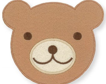 208648 big brown bear face iron-on transfer sheet 1 piece