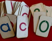 """Sandpaper Letters and Numbers 0-10 mounted on 3""""x5"""" birch"""