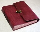 NEW Pink Leather Journal with Pink Paper