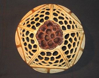 Lotus Pod & Carved Gourd Decorative Wall Hanger