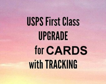 Shipping upgrade to USPS Tracking Number for Cards