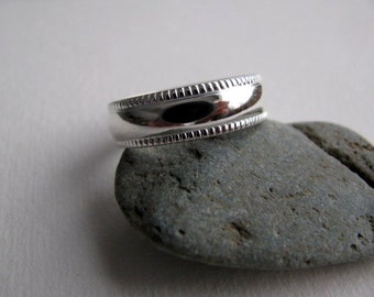Sterling Silver Ring Band, Simple Silver Ring, Unisex Ring, Wedding Band