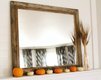 Rustic Mirror - Hobble Creek Style Barnwood with Alder Overlay