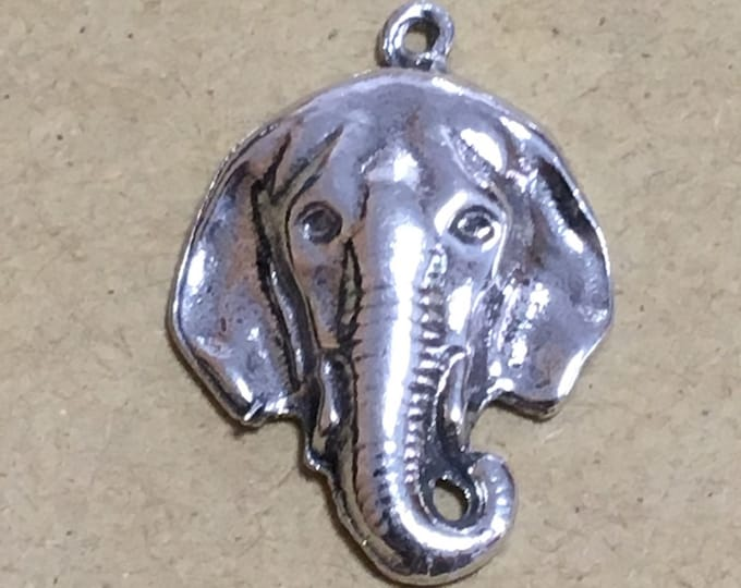 Elephant pendant made with lead free Australian Pewter af54