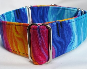 Monterrey Waves of Color Greyhound Whippet, Galgo, Pit Bull, Dog, Sighthound, Martingale Collar