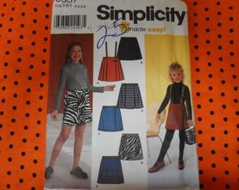 Simplicity 9337 Girls Skirt  Pattern Sizes 3-6