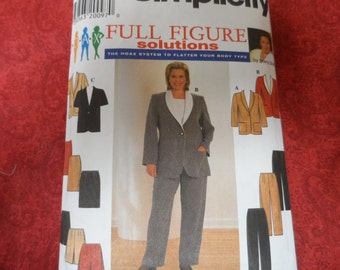 Simplicity 7570 Full Figure Solutions Pattern Wardrobe Jacket, Skirt, Pants Sizes26W-32W