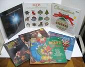 Vintage Lot of 7 Sealed Christmas Xmas Lps Record Albums Elvis Bozo Streisand Rogers etc.