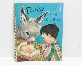 Vintage Davey and the First Christmas Pop Up Book Pop-Up Christmas Nativity Book