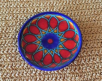 Blue and Red Italian Wall Hanging