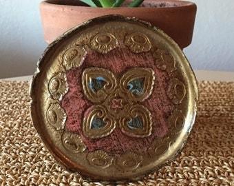 Gold Paper Mache Dish