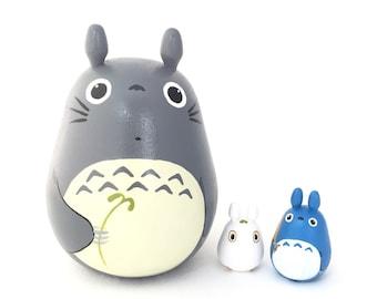 XL Set of 3 Totoro doll Studio Ghibli mini figure model toy XL M S