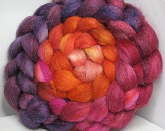 Merino/Baby Alpaca/Tussah 50/30/20 Roving Combed Top - 5oz - Volcanic Orchid 1