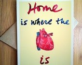 Housewarming Card, New Home Card, Anatomy, Realism, Science, Gothic Heart, Whimsical, New House, New Homeowner, New Apartment, Moving Card
