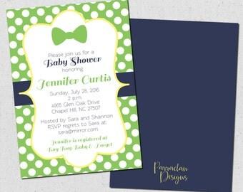 Bow Tie Baby Shower Invitation | Little Man Invitation | printable | digital | Baby2