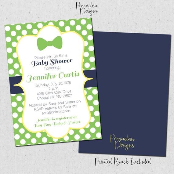 Bow Tie Baby Shower Invitation   Little Man Invitation   printable   digital   Baby2