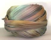 1/2 yd Shibori Girls Hand Dyed Silk Ribbon Pewter Borealis Shibori Silk Ribbon