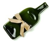 Wine Bottle Cheese Tray, Hostess Gift, New Home Decor, Serving, Display, Home Decor by Mitchell Glassworks, Pittsburgh, PA
