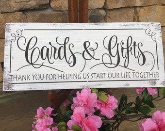 Rustic Cards and Gifts sign, wedding gift table sign
