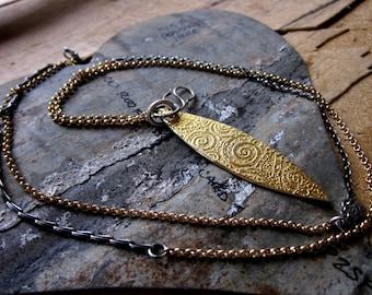 Golden Leaf Pendant, Short and Long