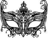 black masquerade mask mardi gras png vector clip art Digital Image Download venetian filigree for digi stamp cards t shirts tags jewelry