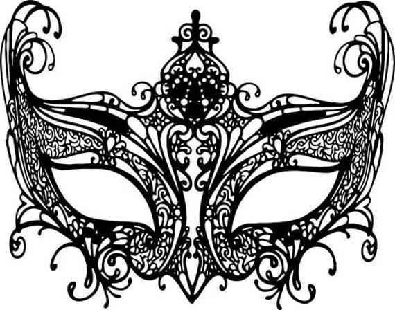 black owl masquerade mask mardi gras clipart png jpg Digital Download transparent Image graphics venetian filigree digital stamp digi stamp