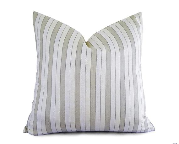 White Cream Throw Pillows : Striped Cream Pillow Covers Cream Throw Pillows White Cream
