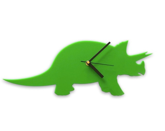 Dinosaur Clock, Triceratops Dinosaur Wall Clock for Children