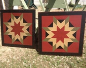 PRiMiTiVe Hand-Painted Barn Quilt - UNFRAMED 2' x 2' - ANY PATTERN