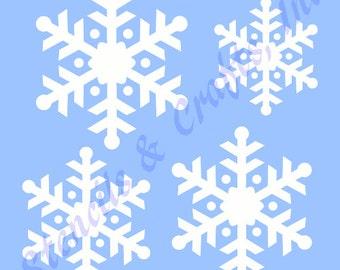 SNOWFLAKES CHRISTMAS STENCIL stencils template templates craft paint pochoir pattern scrapbook paint background #5 new