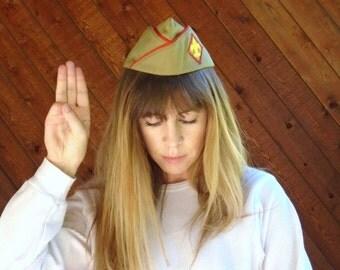 Boy Scouts of America Garrison Cap Hat - Vtg 70s