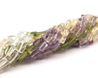 Amethyst Prehnite Citrine Gemstone Beads Full Strand T33