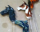 Lampwork Glass Sculptured Horse Swizzle Stick