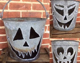 Halloween Jack O Lantern Bucket - 3 styles