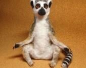Ring-Tailed Lemur Needle Felt