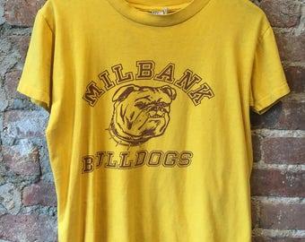 Millbank bulldogs vintage tshirt