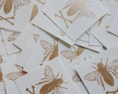 bee gold prismfoil temporary tattoo two pack
