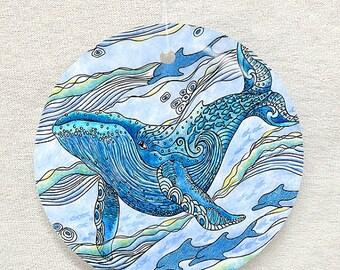 Whale Watch Glass Ornament & Suncatcher, Christmas Ornaments