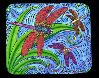 Dancing Dragonflies Mousepad for computers