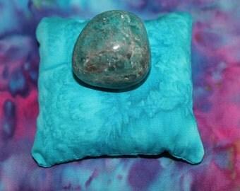 Throat Chakra Pillow - Chakra Pillow - Throat Chakra - Crystal Display - Reiki - Crystal Healer Tool - Meditation - Crystals - SMALL - PLAIN