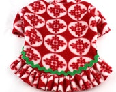 Dog Fleece Sweaters Red Bubble Snowflake print