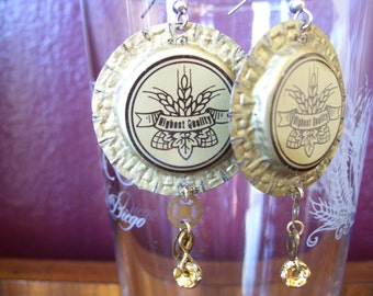 Wheat Beer Bottlecap Earrings